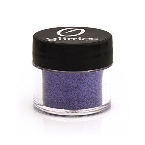 GLITTIES COSMETICS Extra Fine Glitter Powder-Make Up Body Face Hair Lips & Nails-(Indian Ink)]()
