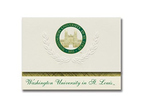 Signature Announcements Washington University in St. Louis Graduation Announcements, Platinum style, Basic Pack 20 with Washington U. in St. Louis Seal Foil