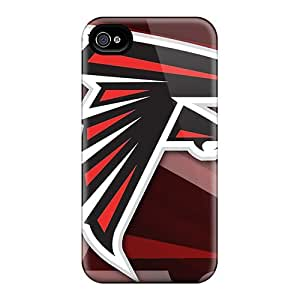 Hot Style CsZ527mVjw Protective Case Cover For Iphone4/4s(atlanta Falcons Logo)