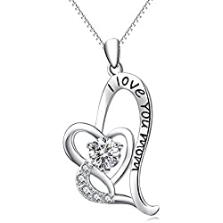 "Sterling Silver ""I Love You Mom"" Necklace"