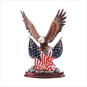 Eagle Sculpture on Wood Base - Style 32419