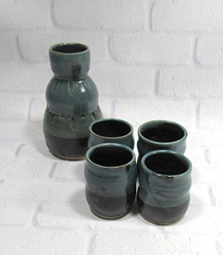 Whiskey Stoneware (Sake or Whiskey Decanter Set)
