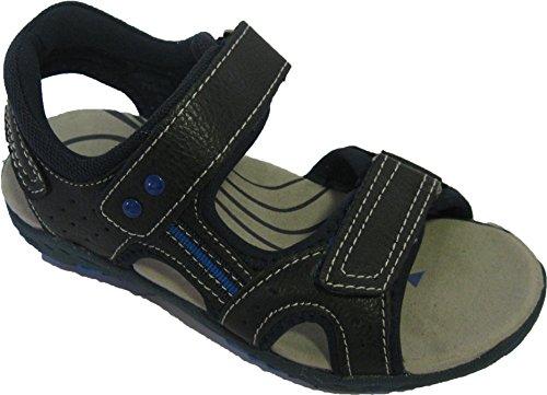 Sandales bleues à scratchs pour garçons
