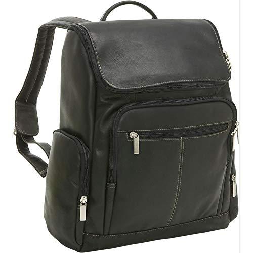 - Le Donne Leather LD-4020-BL Computer Back Pack, Black