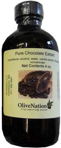 OliveNation Pure Chocolate Extract - Gluten Free Product Online with Cocoa Flavoring – 8 oz Size