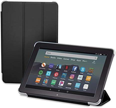 Nupro Tri-fold Standing Case for Fire HD 8 Tablet, Black (tenth Gen, 2020 Release)