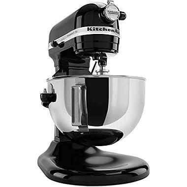 KitchenAid KV25G0XOB Professional 5 Plus Series Bowl Lift Stand Mixer, Onyx Black, 5 quart