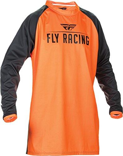 (2019 Fly Racing Windproof Technical Jersey-Flo Orange/Black-L)