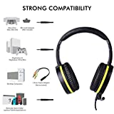 SOMIC G801 Gaming Headset with Detachable MIC for PS4, Xbox One, PC, Phone 3.5mm On-Ear Headphones with Microphone Noise Cancelling Game Earphone with Volume Controller