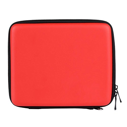 Asiv Hard EVA Protective Storage Zip Travel Case Cover Bag Holder with Carry Handle for Nintendo 2DS Red