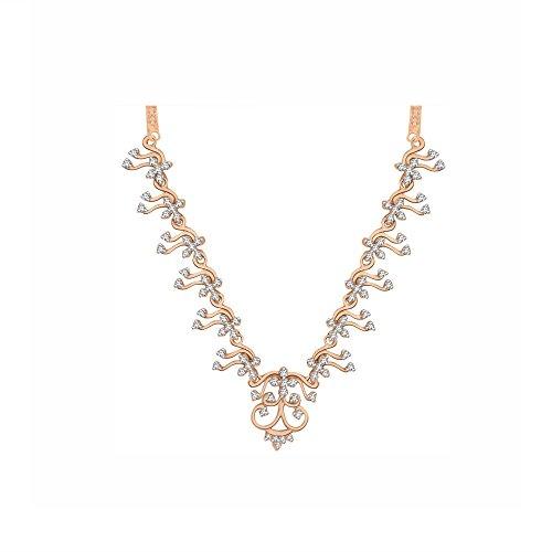 Libertini Colliar argent 925 plaque or Rose serti de Diamant