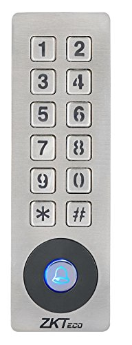 ZKTeco Waterproof Access Control Keypad 125KHz RFID Door Access Controller Home Security System with Metal Shell and Keypad by ZKTeco