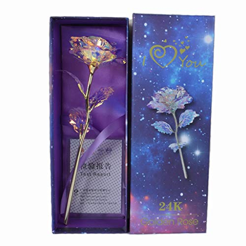 Wintialy 2019 Radiant Everlasting Crystal Gold Rose Valentine's Day eacher's Day Gift Flower