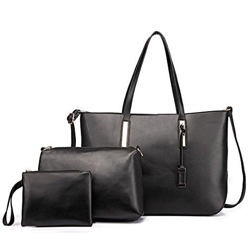 Miss Lulu , Sac pour femme à porter à l'épaule 1435-1 Black