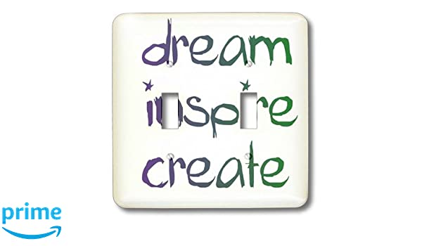 3dRose lsp/_25673/_2 Dream Inspire Create Words Double Toggle Switch