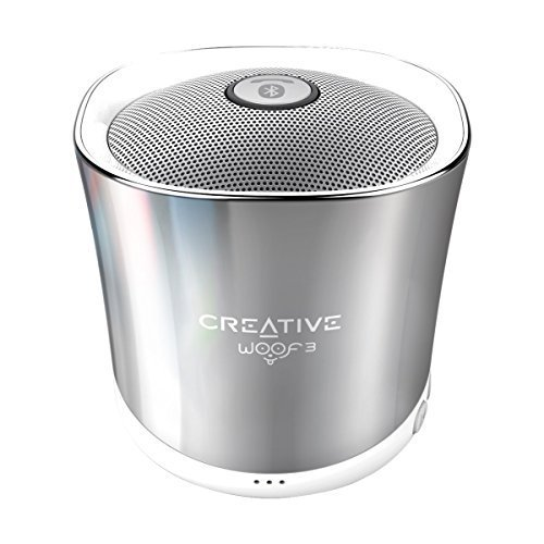 Creative Woof 3 Bluetooth Wireless Speaker (Winter Chrome)