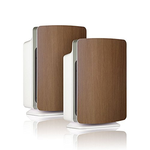 Alen-BreatheSmart-FIT50-Customizable-Air-Purifier-with-2-HEPA-Pure-Filter-for-Allergies-and-Dust-Oak-Smart-Bundle-Pure-2-Pack