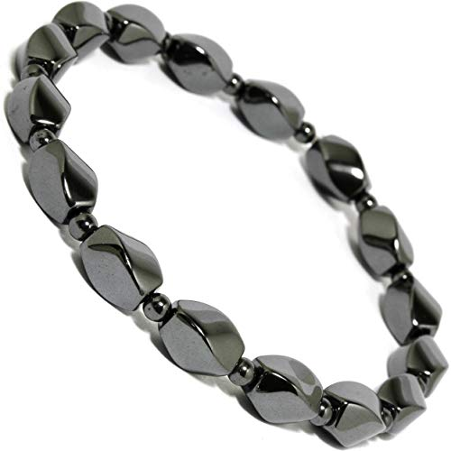 Curved Rectangle (Non-Magnetic Stretch Anklet Bracelet 9