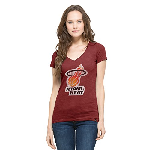 (NBA Miami Heat Women's '47 Flanker MVP V-Neck Tee, X-Large, Cardinal)