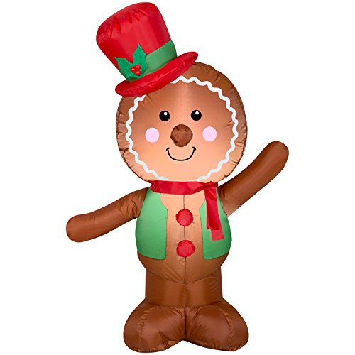 Airblown Inflatable Outdoor Christmas Characters - Gingerbread Man and Girl Bundle 2017 by HolidayTime (Image #1)