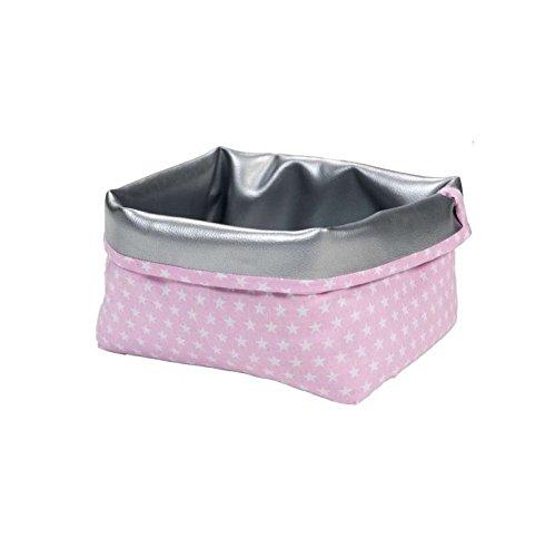 Wickeltischkörbchen Sterne waschbar Ordnungsbox 3 Farben (rosa) Sereno