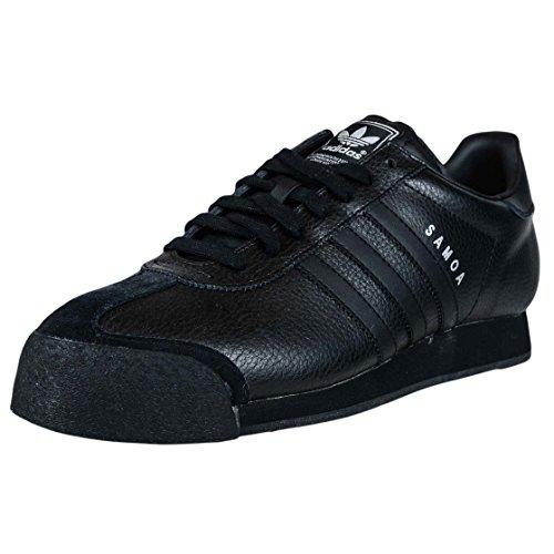 Adidas Originals Men's Samoa Retro Sneaker,Black/Black/Metallic Silver,11 M US