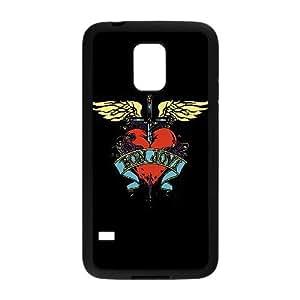 Bon Jovi caso del corazón S8S48F8TU funda Samsung Galaxy Mini funda S5 7MLV86 negro