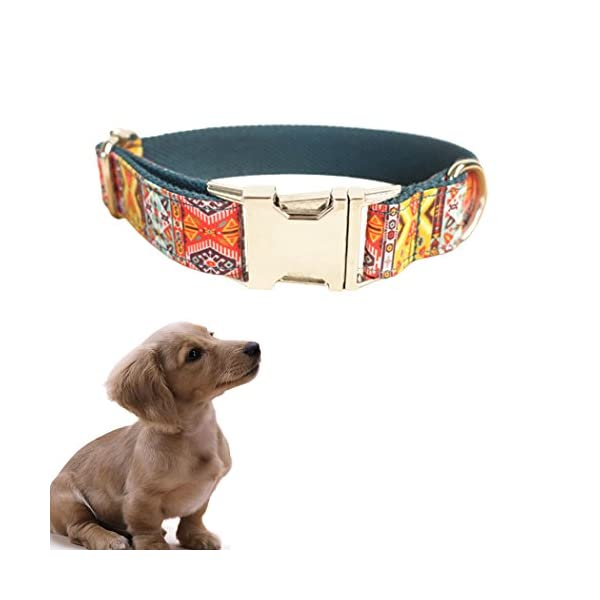 Legendog Print Dog Collar Fashionable Alloy Buckle Dog Collar Adjustable Pet Collar for Dog Cat Size M Click on image for further info. 4