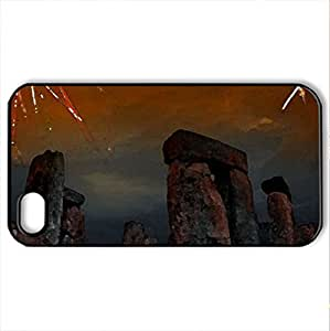 Stonehenge Fireworks - Case Cover for iPhone 4 and 4s (Ancient Series, Watercolor style, Black)