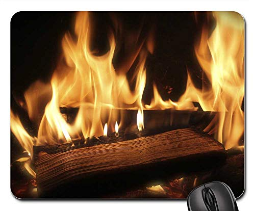 Mouse Pads - Fire Wood Fire Combustion Heat ()