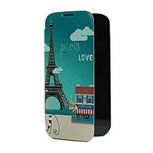 SOL Paris Tower Design Pattern Plastic Back Cover for Samsung S4