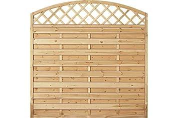 Sichtschutzzaun Holz Bogen Mit Gitter Kiefer Fichte 180 X 180 160 Cm