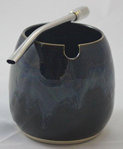 Ceramic Gourd Straw Yerba Bombilla