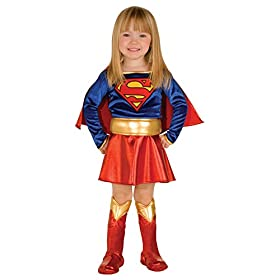 - 41UHSiNFVGL - Dc Comics Supergirl Deluxe Outfit Movie Theme Toddler Halloween Costume