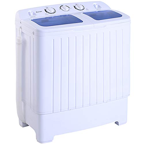 Giantex Portable Compact Twin Tub Washing Machine 17.6lbs Mini Washer Spain Spinner