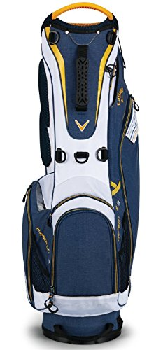 Callaway 2018 Hyper Lite 3 Double Strap Stand Bag Navy/White/Gold ()