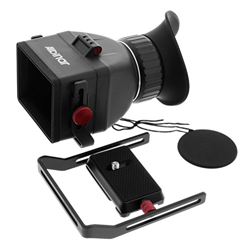 Albinar VF-7 Universal Fit Foldable LCD Viewfinder with 3.0X Magnification for 3.0