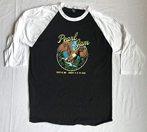 Pearl Jam 2018 t shirt baseball style seattle size xx large raglan eagle 8/08-8/10 the home shows