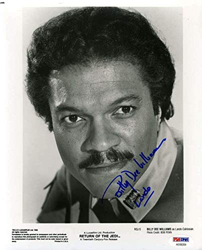 BILLY DEE WILLIAMS Star Wars Hand Signed 8x10 Photo Original Autograph - PSA/DNA Certified ()