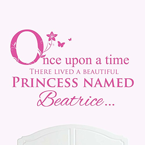 A Beautiful Princess Named Beatrice Large Once Upon a Time Wall Sticker / Decal Bed Room Art Girl / Baby