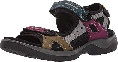 ECCO Women's Yucatan Toggle Sandal, Grey, womens 14