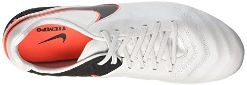 Nike Men's Tiempo Mystic V Fg Football Boots, Weiß,Orange,Schwarz Multicolore (Blanco / Black / Naranja (Pure Platinum / Black-hypr Orng))