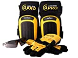 Knee Pads For Work- Heavy Duty Pad Design For Construction, Tiling, Gardening, Floor - Extra Gel and Cushion Support long kneeling - Anti-SlipStretchable Thigh Straps Bonus: Safety Glasses & Gloves