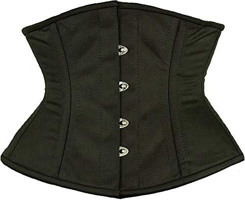 Cotton Satin Corset - Orchard Corset CS-411 Black Cotton Corset - Size 24