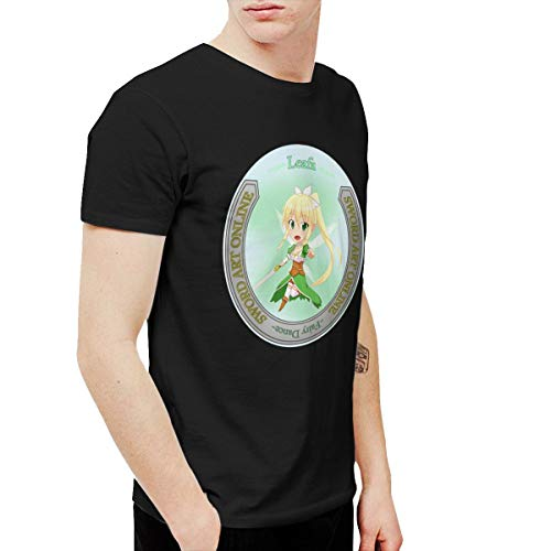 CLANN Sword Art Online Anime Short Sleeve T-Shirt Black XXL