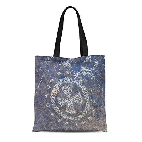 Semtomn Canvas Tote Bag Shoulder Bags Petroglyph National Monument Protects of the Largest Sites Women's Handle Shoulder Tote Shopper Handbag ()