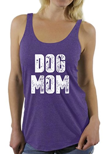 Price comparison product image Awkward Styles Women's Dog Mom Racerback Tank Tops Dog Lover Quote Mom of Dogs Gift for Mom Purple M