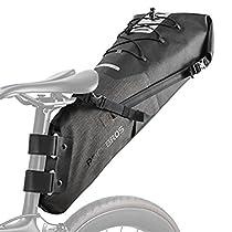 RockBros Bike Saddle Bikepacking Bag Waterproof Bicycle Seat Pack Tail Pouch Large Capacity Black