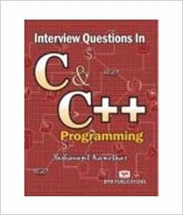 Buy Interview Questions in C & C++ Programming Book Online