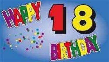 V11 Geburtstag 18 Jahre Fahne